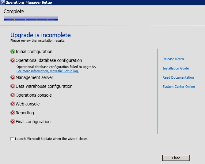 scom 2012 r2 upgrade to full version